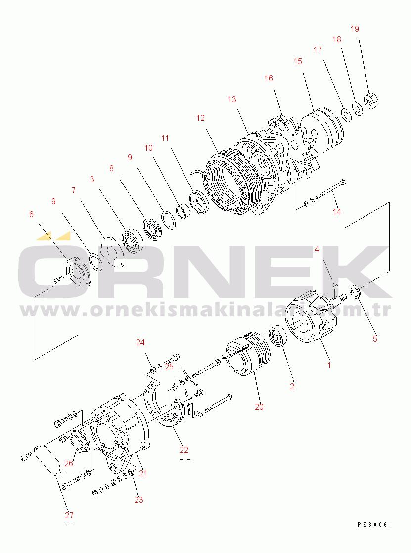 Komatsu 6D95L-1C S/N 10001-UP 6008217590